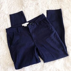 H&M navy blue skinny tapered ankle pants